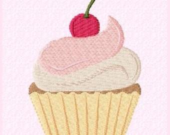 Cupcake Machine Embroidery Design File