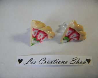 Pie chip earrings