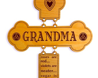 Gift to the Sweetest GrandmaGift for our Nana,Mothers Day Gift for our Lovely Grandma,Grandma Birthday Gift ,Custom Grandma Wall Cross Sign.
