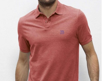POLO 100% Organic cotton  short sleeve Heather Red