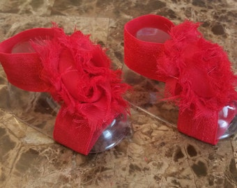 Rag Rose Baby Red Barefoot Sandals