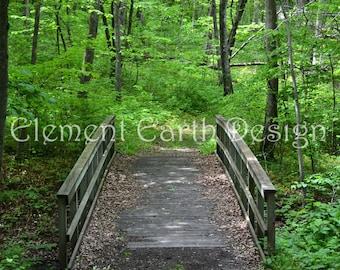 Bridge Over Stream, Instant Download, 10x8, Digital Printable, Fine Art Digital Photo, Photography, woods, forest, woodland, landscape