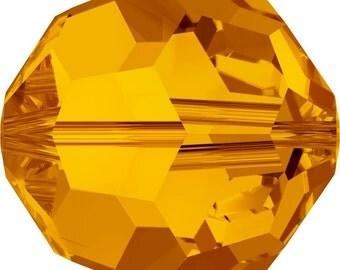 Swarovski Crystal Round Beads 5000 - 3mm 4mm 6mm 8mm - Tangerine