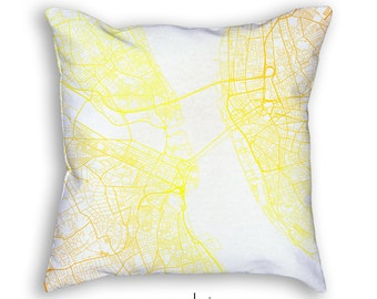 Liverpool England Street Map Throw Pillow