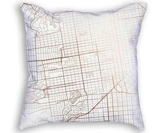 San Francisco California Street Map Throw Pillow