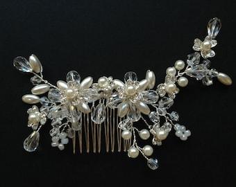 Wedding Headband, Bridal Hair Accessories, Wedding Headpiece, Pearl/Bead/rhinestone Comb