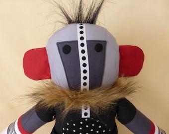 OOAK Doll Fabric Handmade Kachina Inspired
