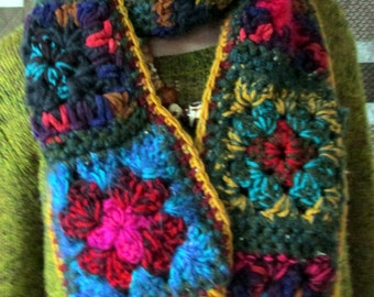 Granny square scarf 150cm
