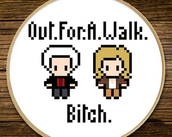 Buffy the Vampire Slayer - Out for a Walk - Cross Stitch (PATTERN ONLY)