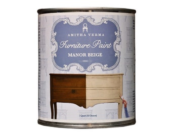 Chalk Finish Paint for Furniture and more by Amitha Verma - Manor Beige