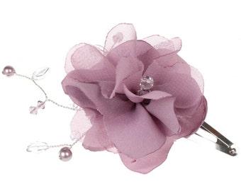 Fabric Flower Clip©,Bespoke Design,Wedding Hair Clip,Bridal Hair Ornament,Bridesmaids Headdress.
