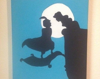 Aladdin Silhouette Painting