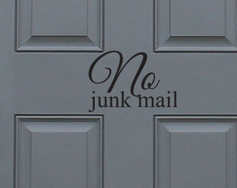 No Junk Mail Vinyl Decal