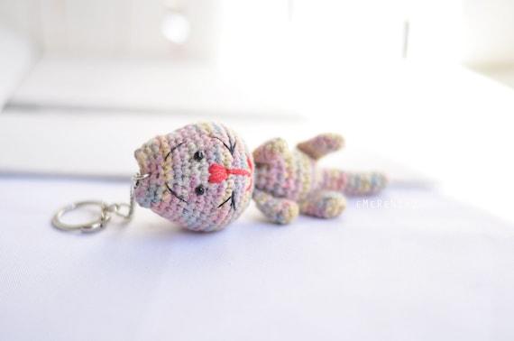 Amigurumi Keychain Loop : Amigurumi Cat Stuffed Plush Keychain Cat amigurumi by ...