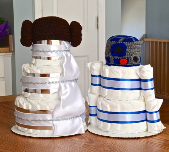 star wars baby shower yoda r2d2 princess leia centerpieces