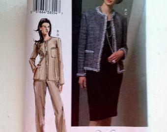 "Vogue pattern  # 7943,  Misses' 3 piect suit,  jacket, pants, and skirt,  size 14-18, ""The Vogue Woman"""