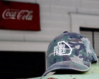 Southern Fried Vintage Camo Flex-Fit hat..