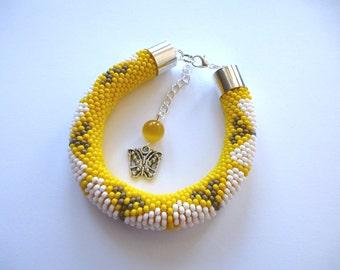 Summer. Butterfly bracelet