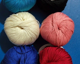 Lara 100% cotton yarn 50g