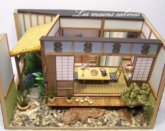 Miniature diorama of Japanese style 1/24th