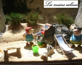 The Betty to the sea. Miniature diorama