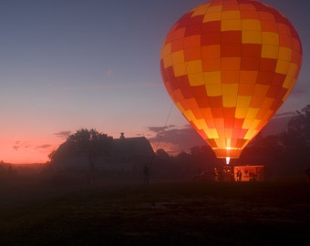 Ballooning Print, Balloon Festival, Sunrise Print, Sunrise Photography, Balloon Takeoff, Ballooning Photo, Balloon Ride, Sunkiss