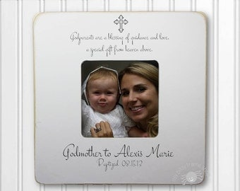 Godmother Gift Godmother Frame Gift for Godmother Baptism Frame Christening Frame Godparent Gift Godparent Frame IB2FSBAPT