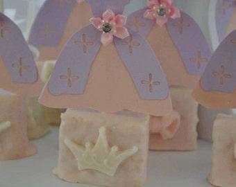 Princess dress cupcake topper