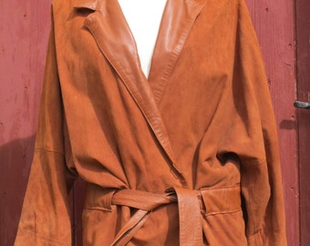 70s suede Guy Laroche stylish bat wing jacket