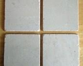 Tumbled Stone Coasters with Cork Backing - Set of Four - Crema Marfil