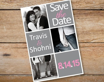 "4"" x 6"" Save the Date Magnets - Custom Colors Available"
