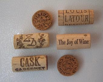 wine cork kitchen magnet assortment