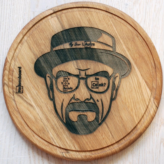 Breaking Bad Engraved Cutting Board. Personalized, Custom Engraved, Wedding Gift, Aniversary Gift, Cooking Evolution, Lets Cook, Heisenberg