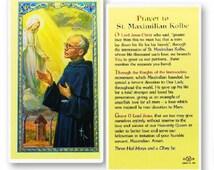 St Maximilian Kolbe Laminated Holy Card Set Of 10 (HC-123)