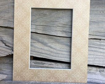 8x10 at with a 5x7 opening - Elegant gold motif