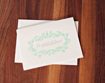 Congratulations A7 Letterpress cards
