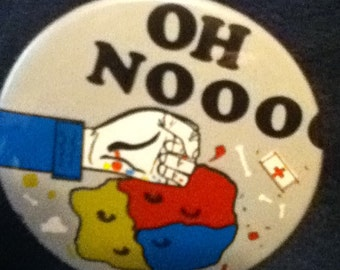 this button from the 1970's in near perfect condition is the Mr.Bill show