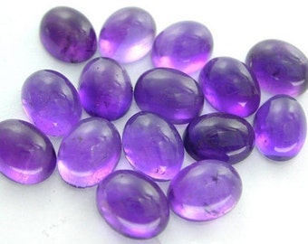 10-P Wholesale Lot Of  purple Amethyst Oval Shape cabochon Loose Gemstone for jewelry