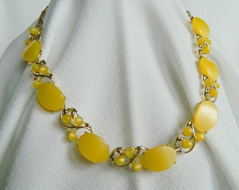 Yellow Lucite Star necklace