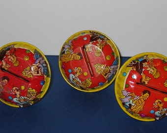 Vintage lot of 3 1960s New Years Tin Noise Makers