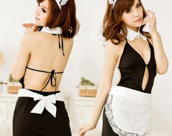maid cosplay sexy girls roleplay lingerie anime french 004
