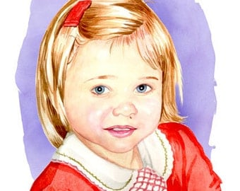 Personalized Watercolour Portrait From Your Photos