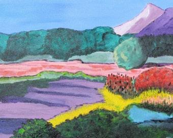 Sun over Southwest.  Acrylic on Canvas.  ORIGINAL Impressionist Painting.
