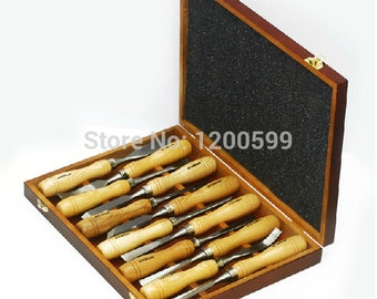 Brand New Quality 12 PCS Graver Wooden Tools Graver Knife Root Carve Wood Carving Tools Woodworking Chisel