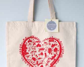 The Galway Bag, Canvas Tote, Shopping Bag, Irish Gift,