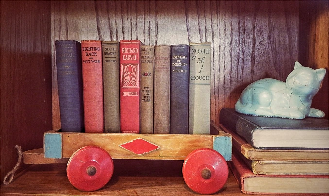 Vintage 1940s Wooden Kids Wagon Rustic Home Decor