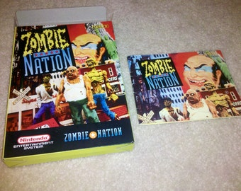 Zombie Nation Box and Manual