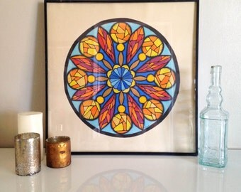 Original Artwork Stained Glass Painting