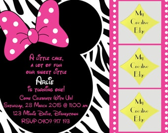 Minnie Mouse Digital Birthday Invitation