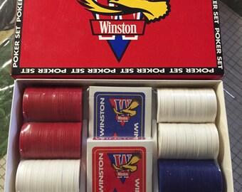 vintage 1993 Winston Poker Chip Set!! Complete and Sealed!!